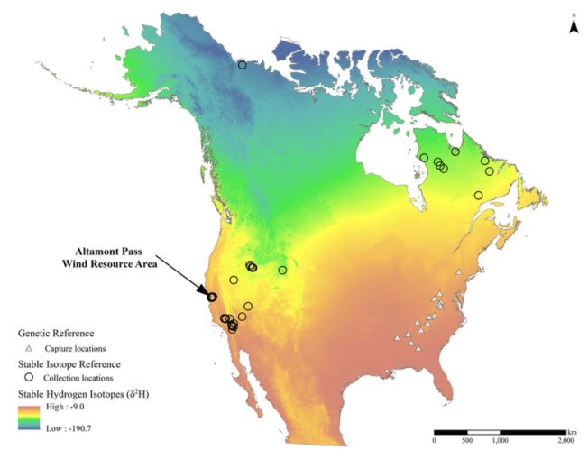 Stable isotope map